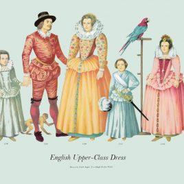 English Upper-Class Dress 1596-1598