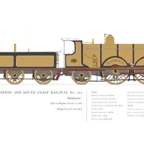 AC02 London Brighton & South Coast Railway No. 214