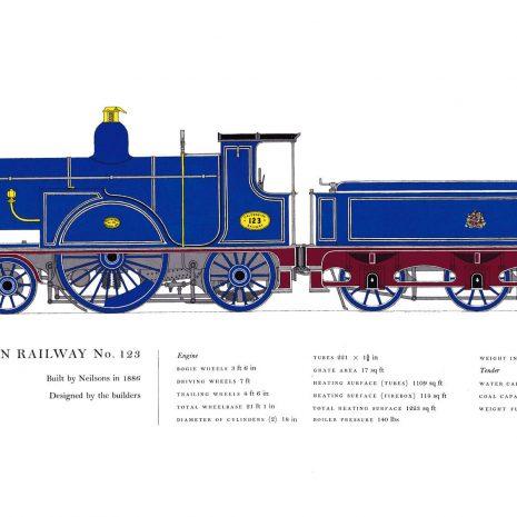 AC04 Caledonian Railway No. 123