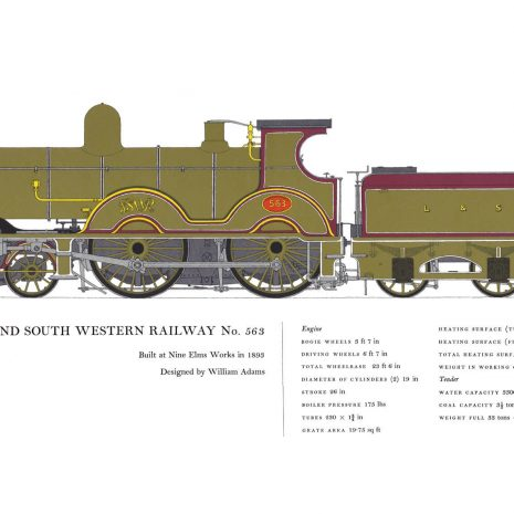 AC07 London and South Western Railway No. 563