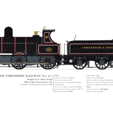 AC16 Lancashire and Yorkshire Railway No. 957