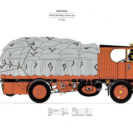 AE12 Sentinel Steam Lorry, No 7954