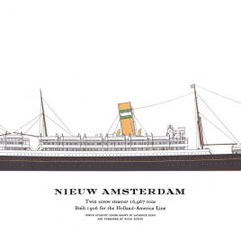 S.S. Nieuw Amsterdam, 1906
