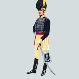 Officer, 11th Light Dragoons, 1800 (Royal Hussars)