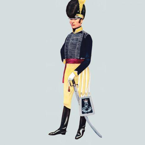 AH06 Officer, 11th Light Dragoons, 1800