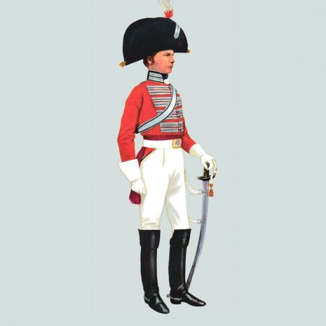AH07 Officer, 4th Queen's Own Dragoons, 1808
