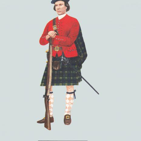 AN01 Highlander, Independant Company, c 1730
