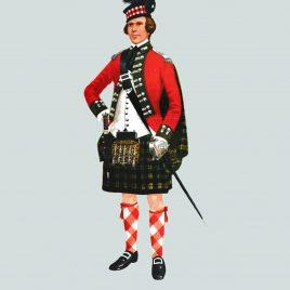 Officer, 77th Montgomery Highlanders, c.1763