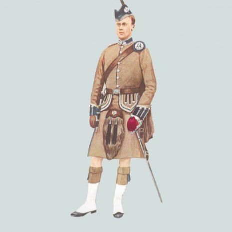 AN10 Officer, London Scottish, 1890