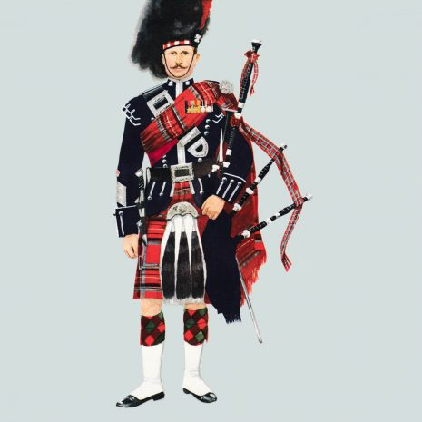 AN18 Pipe Major, Scots Guards 1959