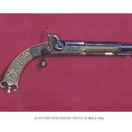 Scottish Percussion Pistol by Bond, c. 1830