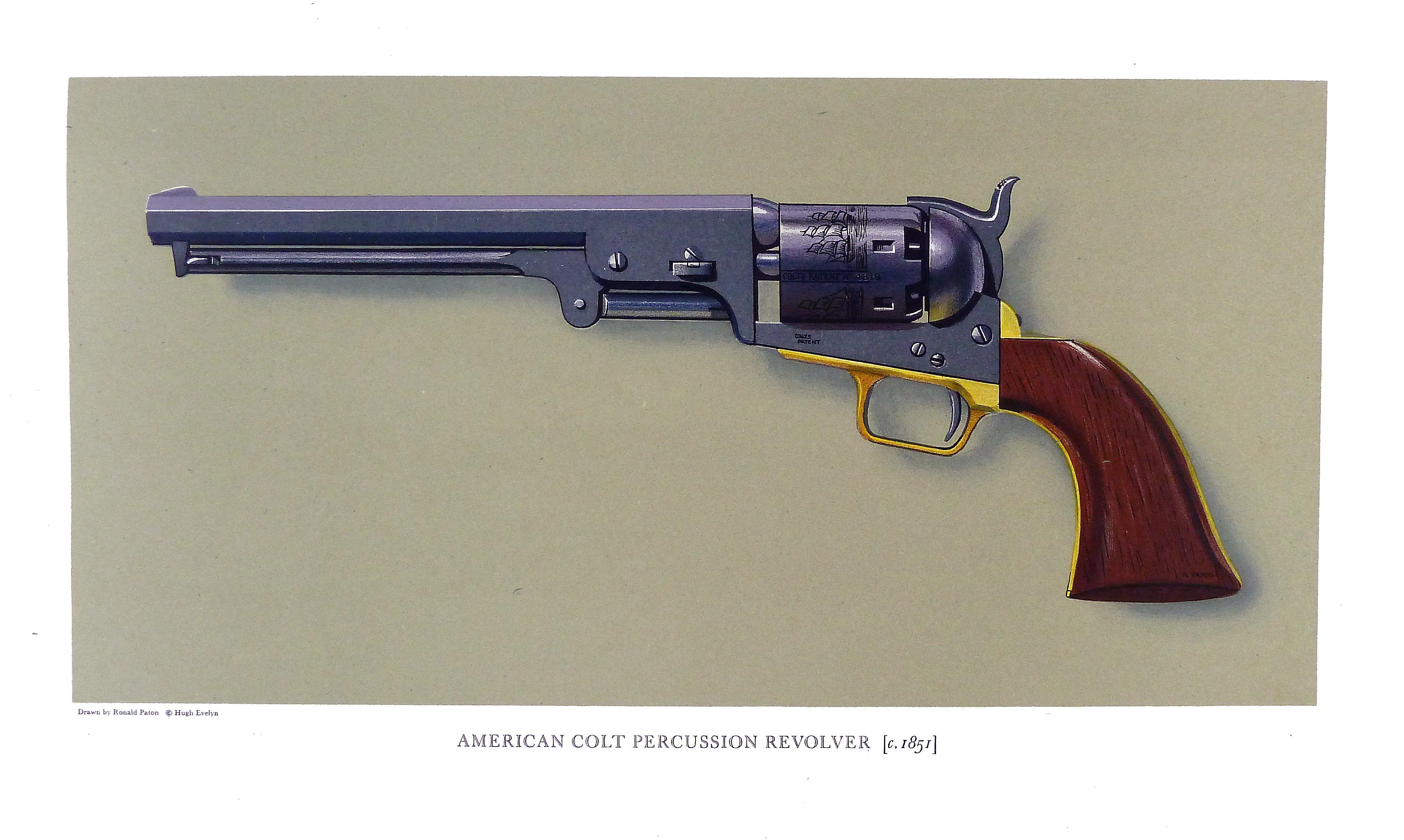 American Colts Patent No  1848 Percussion Revolver 1851