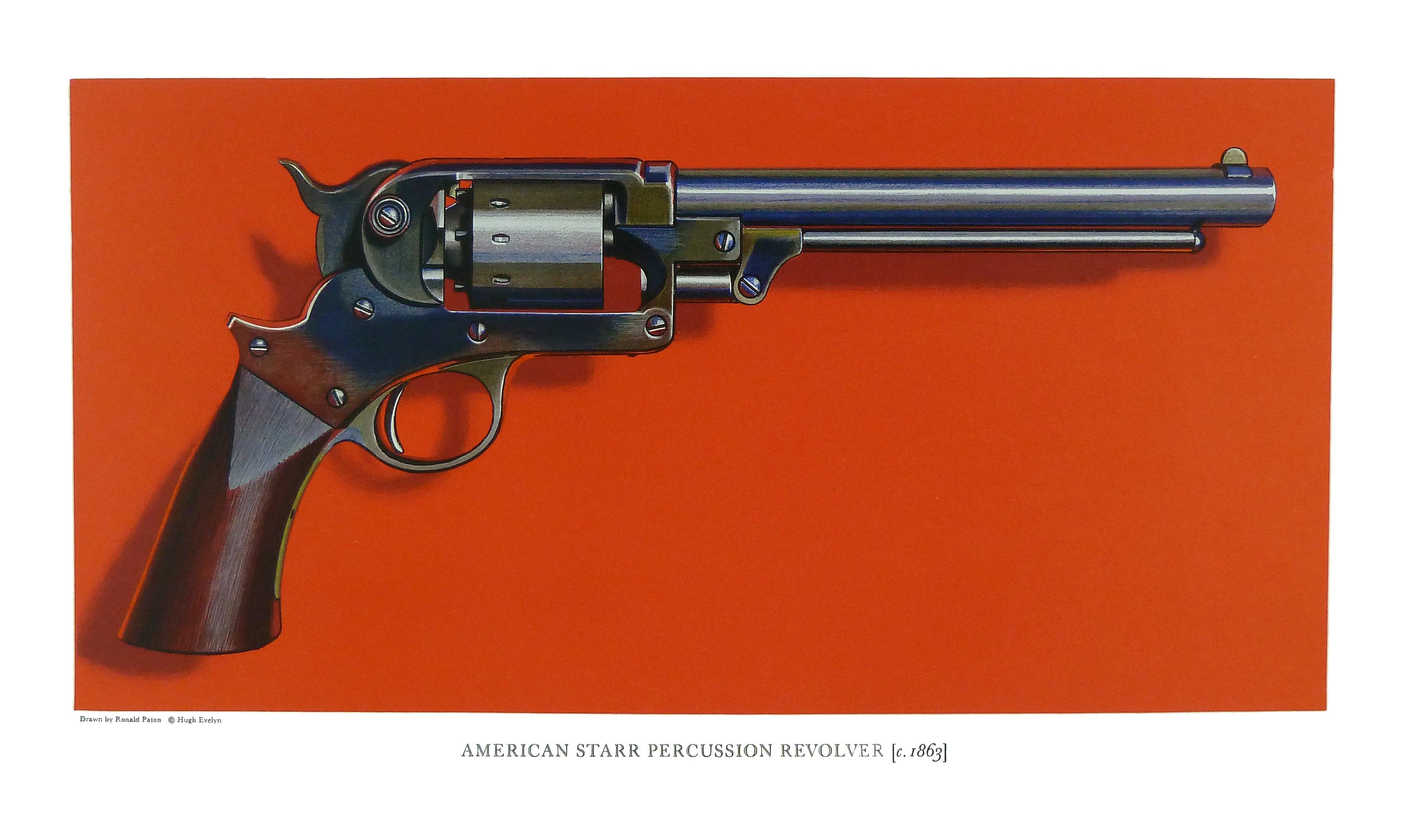 American Starr Patent Jan  15, 1856 Percussion Revolver, c  1863