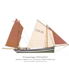 """Yarmouth Lugger, """"Gypsy Queen"""""""