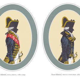 I. Admiral, Full Dress II. Rear-Admiral Frock Uniform, 1787-1795