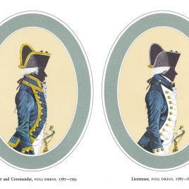 I. Master and Commander, Full Dress   II. Lieutenant, Full Dress, 1787-1812
