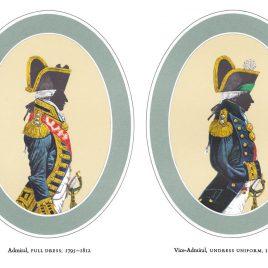 I. Admiral, Full Dress II. Vice Admiral, Undress Uniform (1795-1812)