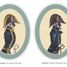 I. Commander, Full Dress II. Lieutenant, Undress Uniform, 1787-1812