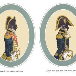I. Admiral, Full Dress II. Captain 3 years post, Full Dress, 1812-1825