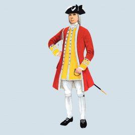 Officer, 6th Foot, 1735 (Royal Warwickshire)