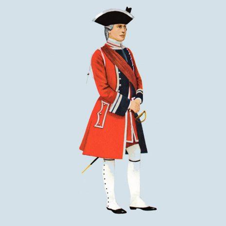 ATI11 Officer 4th Foot, 1743