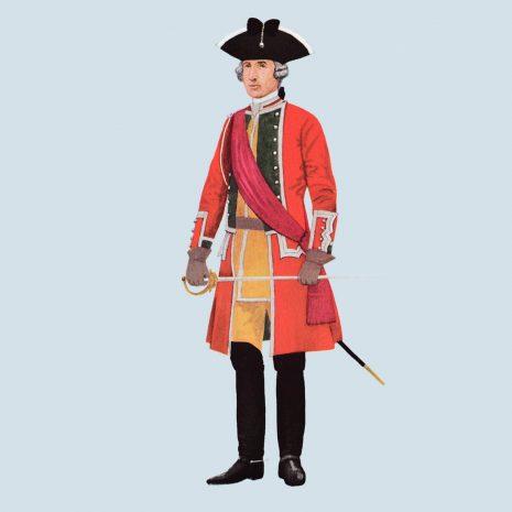 ATI14 Officer, 24th Foot, 1755