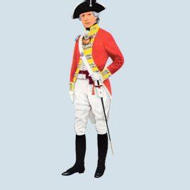 Officer, 9th Foot, 1790 (Royal Norfolk)