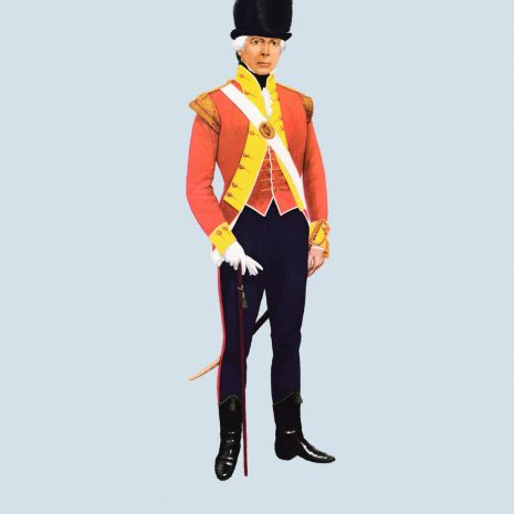 ATII04 Officer, Light Company, 12th Foot, 1796