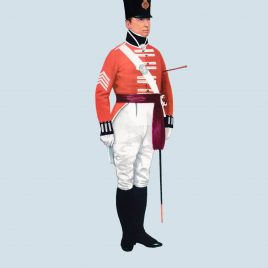 Quartermaster Sergeant, 2nd Foot, 1802 (Queen's Royal Regiment)