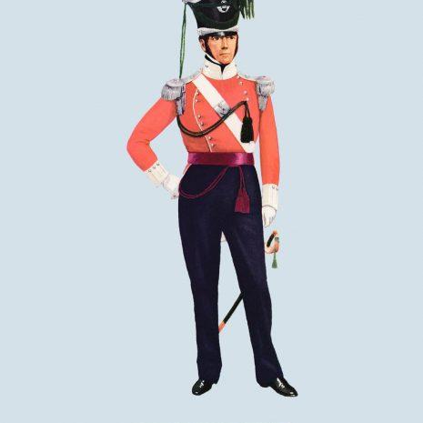 ATII13 Field Officer, 43rd Light Infantry, 1823