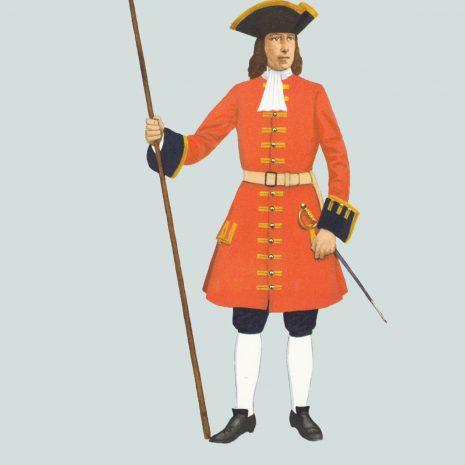AW01 Sergeant, Train of Artillery, 1708