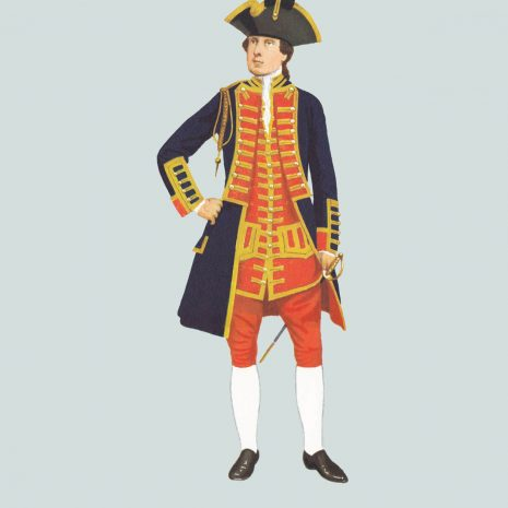 AW03 Officer, Royal Artillery, 1758