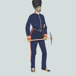 1846 Gun Lascar, Madras Foot Artillery