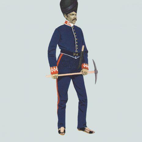 AW09 Gun Lascar, Madras Foot Artillery, 1846