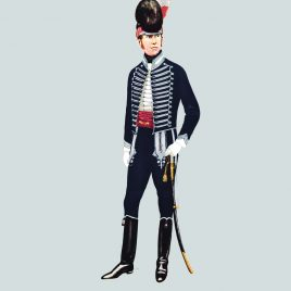 Officer, 7th Queen's Own Light Dragoons, 1798 (Queen's Own Hussars)