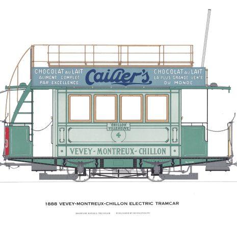 AQ03 Vevey-Montreux-Chillon Electric Tramcar 1888