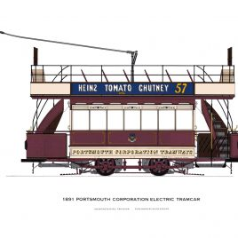 1891 Portsmouth Corporation Electric Tramcar