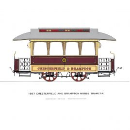 1897 Chesterfield and Brampton Horse Tramcar