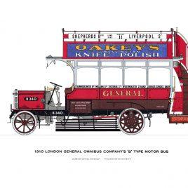 1910 London General Omnibus Company's 'B' Type Motor Bus