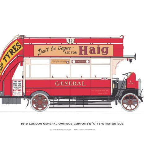 "AQ10 London General Omnibus Company ""K"" type motor bus (1919)"