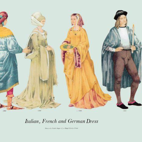 ASI01 Italian, French and German Dress 1500-1505