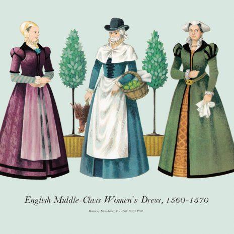 ASI06 English Middle-Class Women's Dress 1560-1570