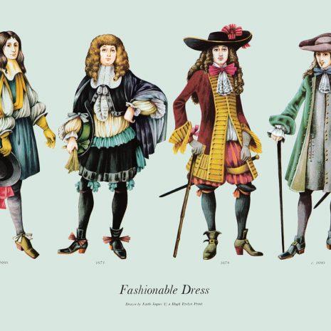 ASII01 Fashionable Dress 1660-1680