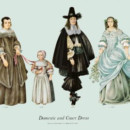 Domestic and Court Dress, 1665-1670