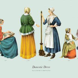 Domestic Dress, 1660-1670