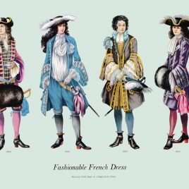 Fashionable French Dress, 1686-1694
