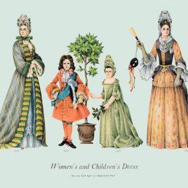 Women and Children's Dress, 1693-1695