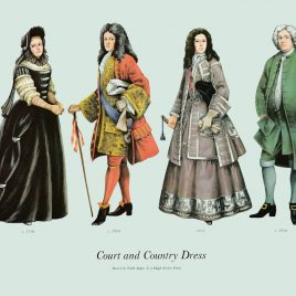 Court and Country Dress, 1710-1719