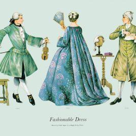 Fashionable Dress, 1731-1735