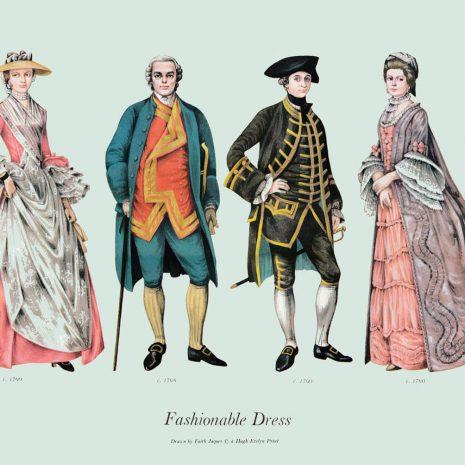 ASII14 Fashionable Dress 1760-1768